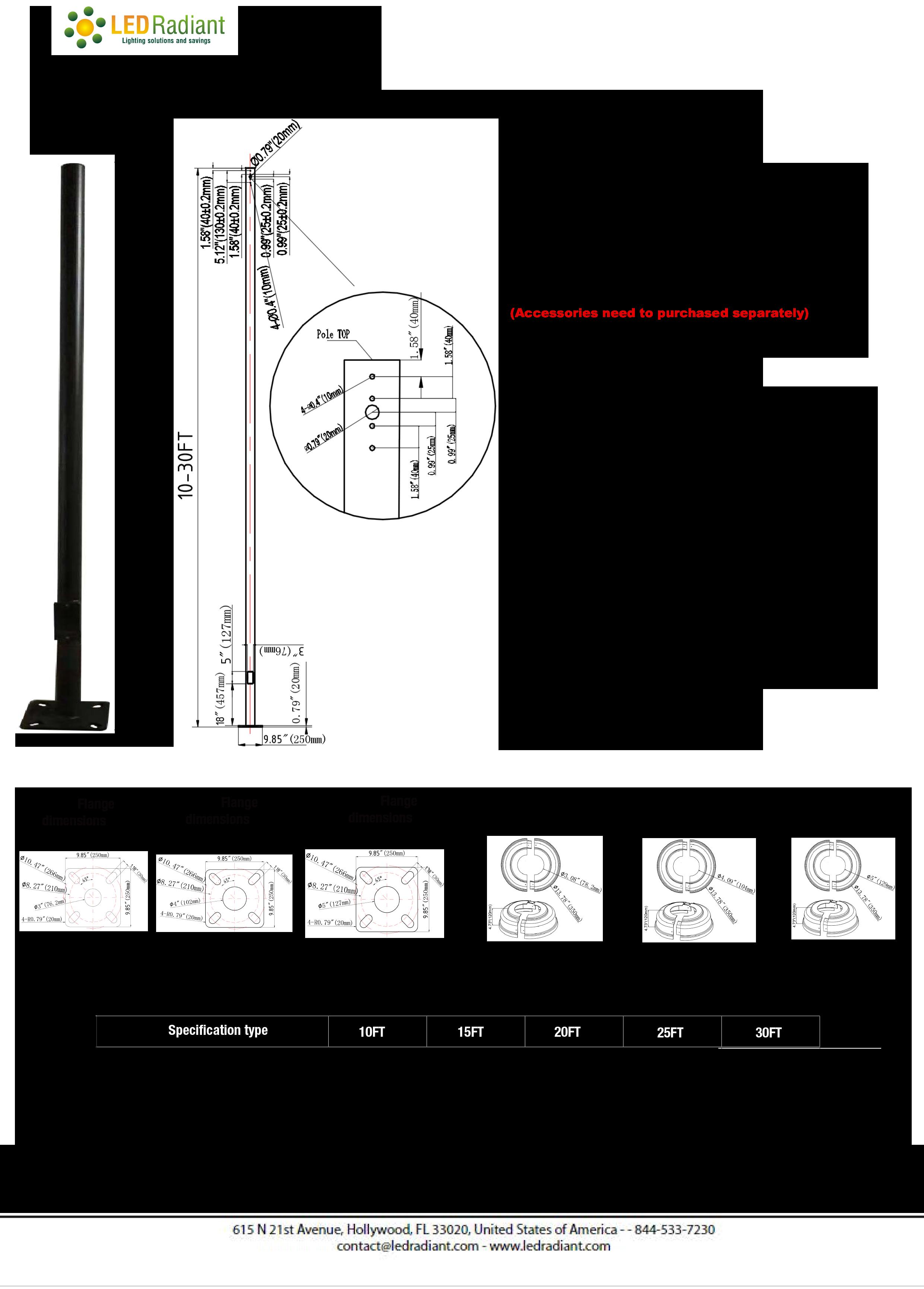 Light poles straight round steel-1