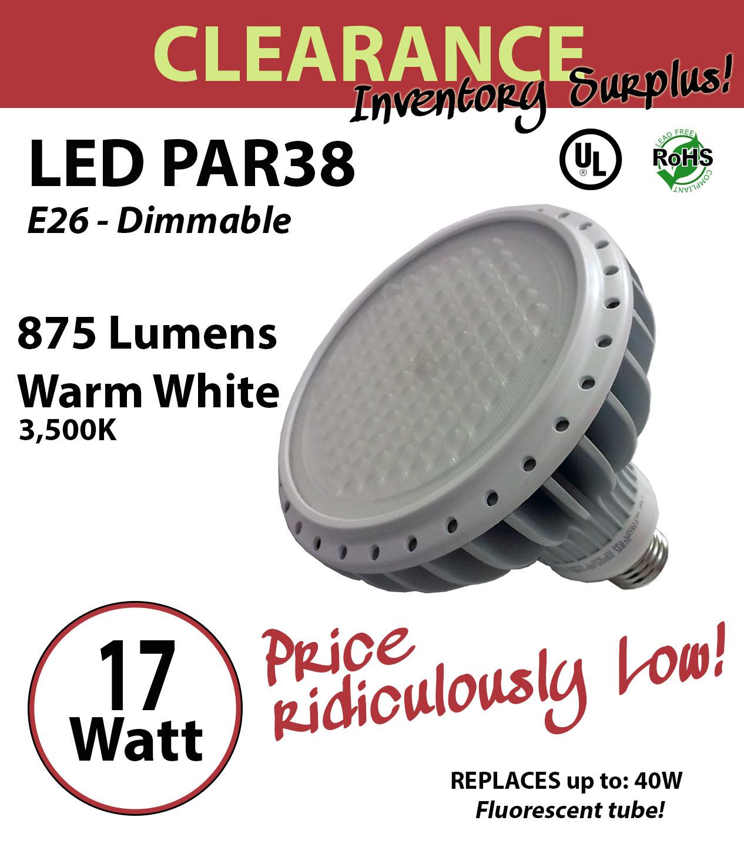 17 watt led par 38 design energy efficient indoor replacement bulb 100 dimmable ledradiant. Black Bedroom Furniture Sets. Home Design Ideas