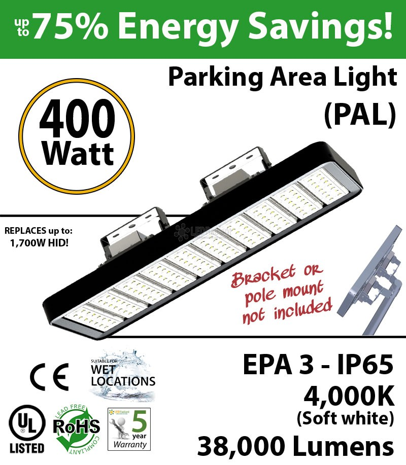4000K Bright 400w LED Light 1800 Watt Halogen Replacement : LEDRadiant