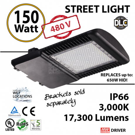 Replace a 700W HId with this 150w LED Corn Light Bulb 17000Lm 480v