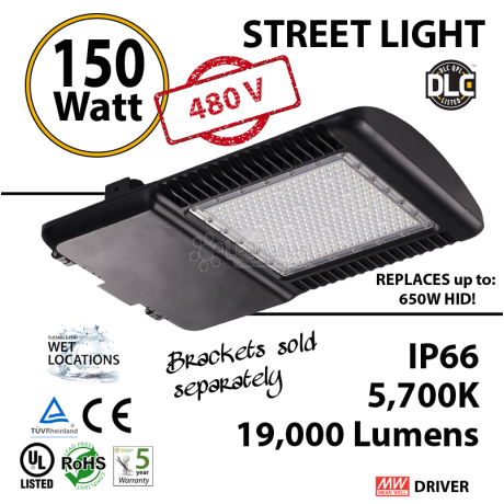 Replace a 700W HId with this 150w LED Corn Light Bulb 19000Lm 480v