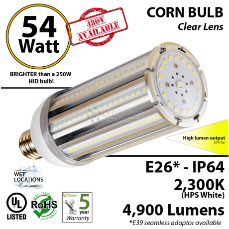 54 Watt LED Soft Light Bulb 300w Halogen Replacement 6900Lm