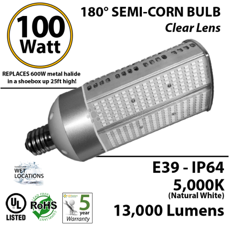 Replacement up to 600W Metal Halide in shoebox up to 25ft.
