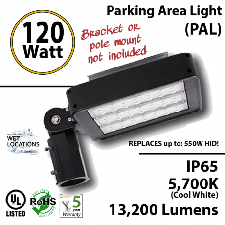 120w LED Light Fixture 550 Watt Metal Halide Equivalent