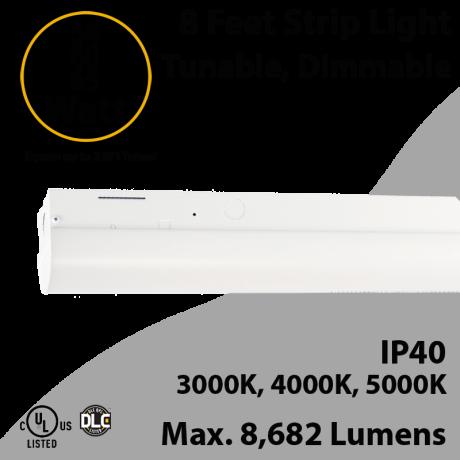 8 Foot LED Shop Light 54 60 65W 3000K 4000K 5000K 8682Lm 0-10V Dim