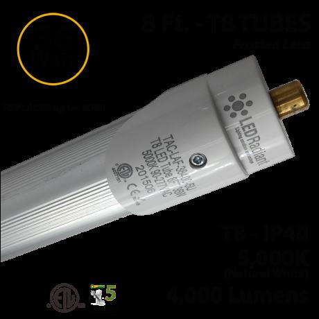 8 ft. 36 Watt T8 LED Tube replace Fluorescent Bulb 4000Lm 5000K