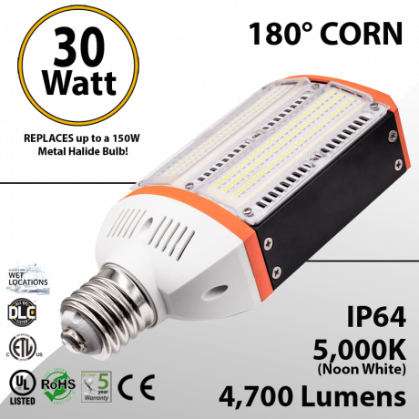 Metal Halide Led Replacement 30W equal up to 150W  - BEN-GPC-30470-50