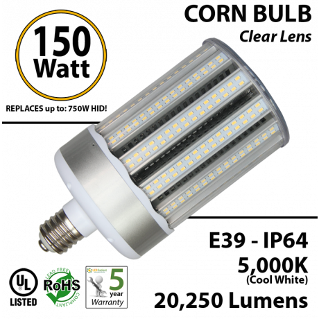 150W LED Corn bulb 5000K 20250 lumens