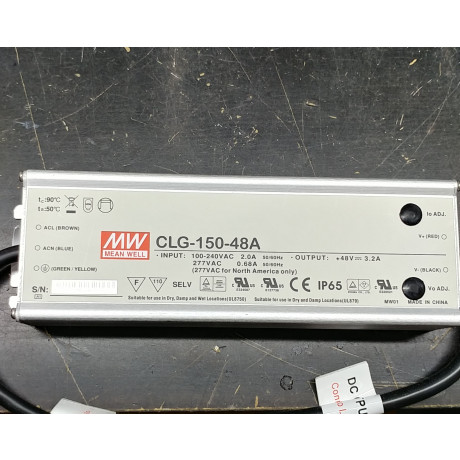 150 Watts dimable LED Meanwell Driver 100-277VAC