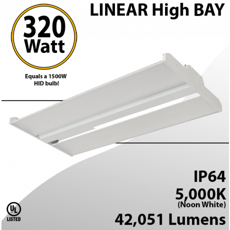High Bay Led Light 4Ft. 320W 42051 Lumens 5000K UL DLC