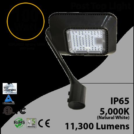 Top Post 100W LED Garden Light 5000K 11300 lumen