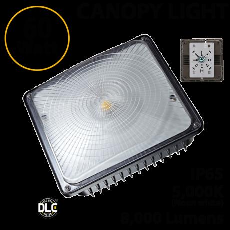 LED Canopy Light Parking Garage Lighting 60W 5000K 8000 Lm UL DLC IP65
