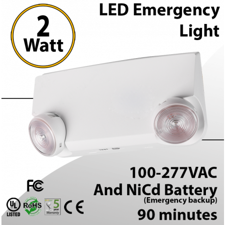LED Emergency Light with battery backup 2 Watt 90 Minutes Economy