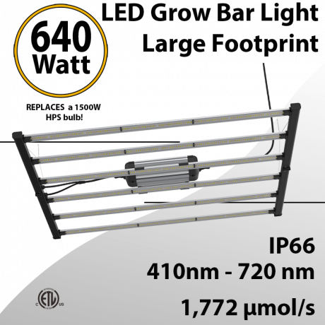 LED Grow Lights with large coverage area 640W full spectrum