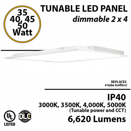 LED Panel Light 2x4 30 35 40 or 50W 6620Lm 3000K 3500K 4000K 5000K