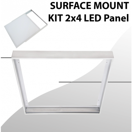 Surface mount aluminum Kit for Panel 2x4