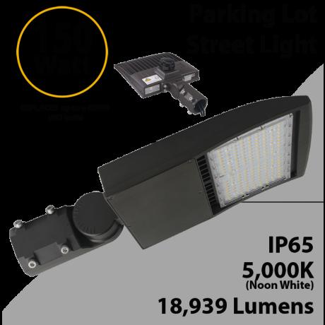 LED Street Light 150W 18939Lm 5000K UL IP67 DLC