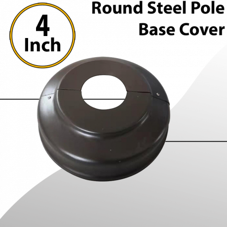 Round Light Pole 4 inch Base Cover Steel Painted