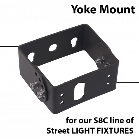 Mounting:Yoke mount for S8C street light fixtures