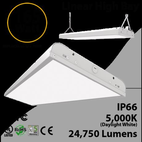 4Ft LED Linear High Bay 165W 24750 Lm 5000K