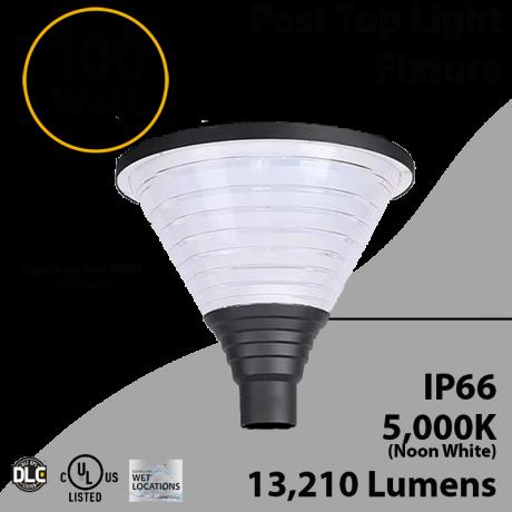 Top Post Light 100W LED 13210 Lumen 5000K