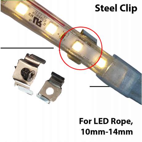 Rope Light Clip 10mm to 12.5mm