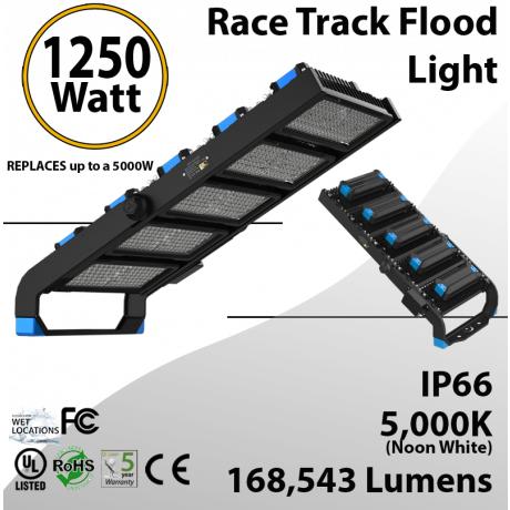 Stadium Lights and LED Sports Lamp 1250W 168543 Lm 5000K IP66 CE UL