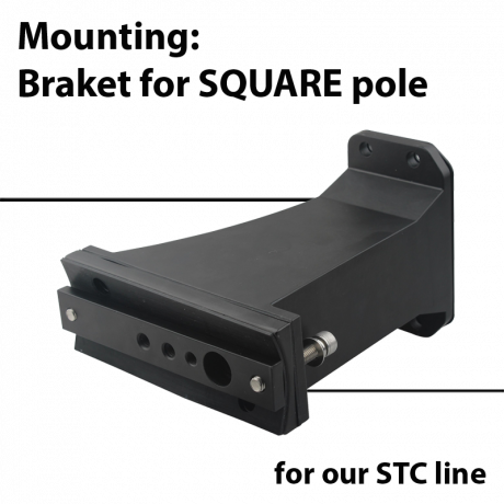 Mounting: Arm for Square or Round pole for STC series