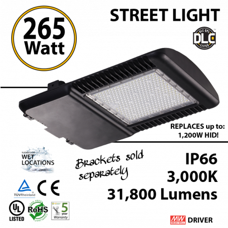 265 Watt LED 1200w Halogen Replacement 31800Lm