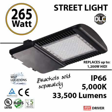 265 Watt LED 1200w Halogen Replacement 33500Lm
