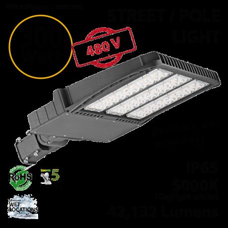 LED Street Light 300W 277-480V 42132 Lumens 5000K UL IP65