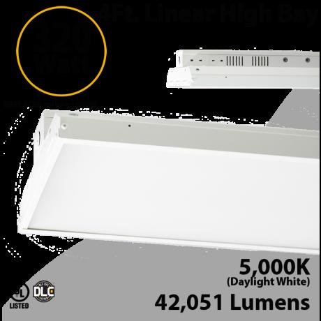 Warehouse Lights Linear Fixture 320W 42051Lm 5000K 100-277V