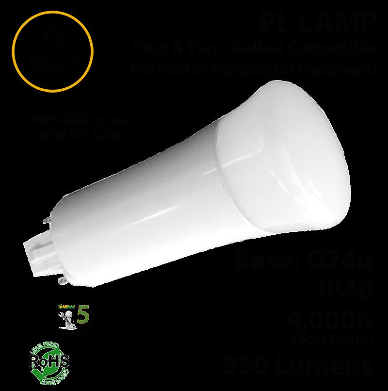 New Philips Alto PL-C 18W//841//4P Compact Fluorescent Bulb 18W 4-Pin Lot of 3