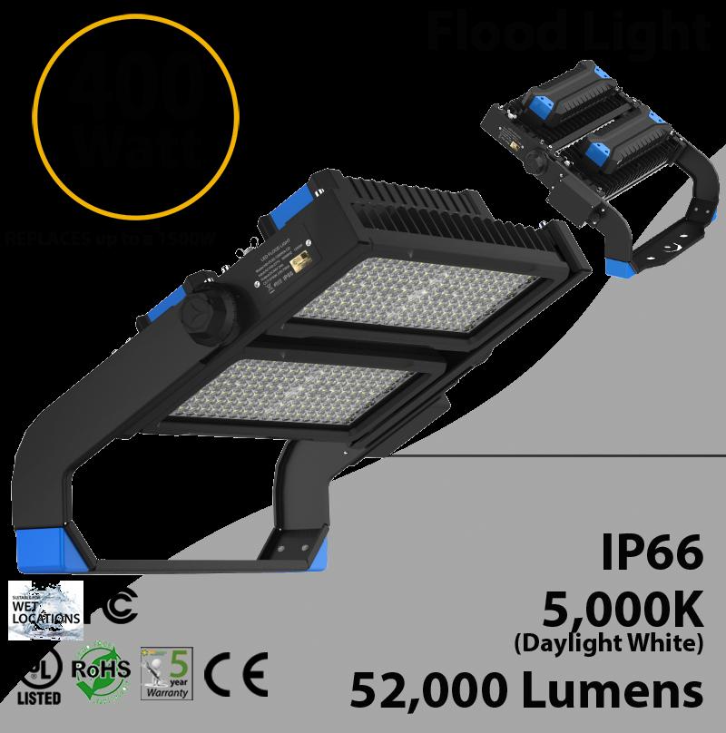 400W LED Floodlight 52000 Lm 5000K IP66 CE UL