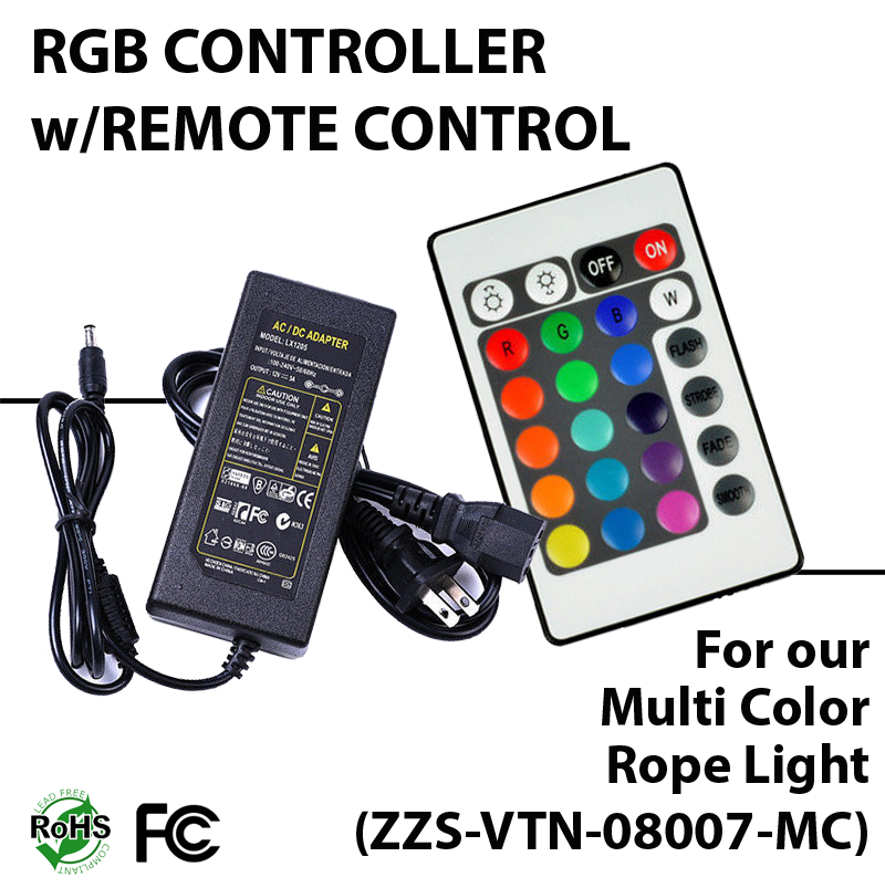Remote Control For Multi Color Rope Light Zzs Rgb 08007 Mc Ledradiant