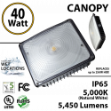LED Canopy Lights and Garage lighting 40W Ceiling Mount 5450Lm 5000K UL IP65