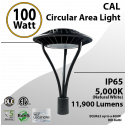 100W LED Landscaping Circular Area Light 11900 Lm 5000K