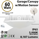Parking garage Light with Motion Sensor   60W 5000K 8187 Lumens
