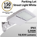 Street Light White fixture 150W 18939Lm 5000K UL IP65 DLC