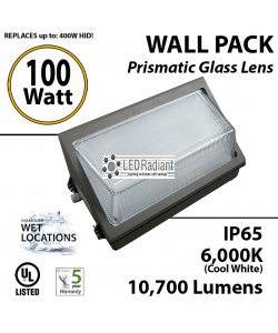 100w LED Wallpack Light Fixture 450 Watt HPS Bulb Replacement ...  sc 1 st  LEDRadiant & Outdoor LED Lighting | Commercial Outdoor Lighting | LEDRadiant