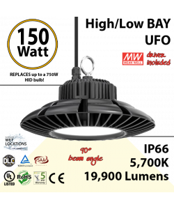 150 Watt LED 700w Halogen Replacement 19900 lumens 110V
