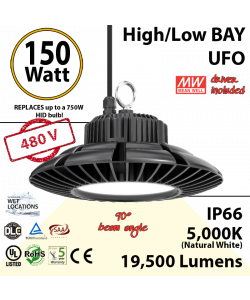 150 Watt LED 700w Halogen Replacement 19500 lumens 480V