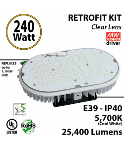 1000 Watt HID Equivalent 240w LED retrofit kit luminaire 39900 Lumens