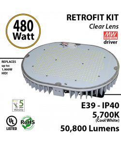 480w LED retrofit kit Fixture 1900 Watt HPS Bulb Replacement
