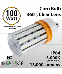 LED Corn Bulb 100W 13000Lm 5000K E39 IP64 ETL DLC