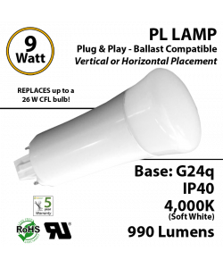 cfl led g24q replacement 26W