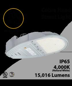 Cobra Head Street Light 100W 15050Lm 4000K UL IP65 DLC