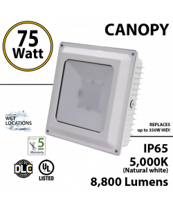 75W LED Canopy Ceiling Mount 5000K IP65