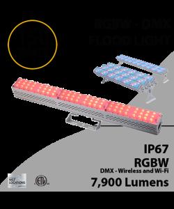 DMX Flood Light 150W RGBW 7900 lumens white IP67