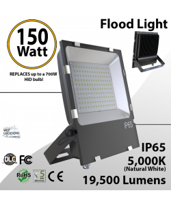 LED Flood light Outdoor 150W 19500 Lm 5000K IP65 UL DLC